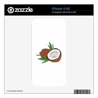Coconut Decals For The iPhone 4S