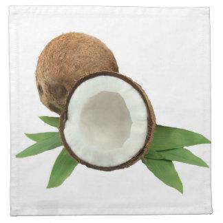 """Coconut"" design cloth napkins"