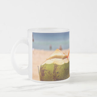 Coconut Dream Frosted Glass Coffee Mug
