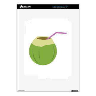 Coconut Drink Decal For iPad 2