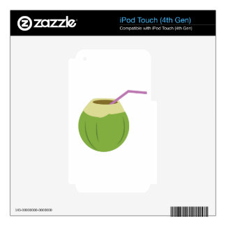 Coconut Drink Decal For iPod Touch 4G