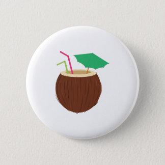 Coconut Drink Pinback Button