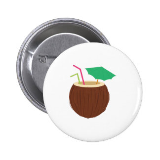 Coconut Drink Pinback Button