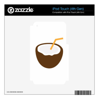 Coconut Drink iPod Touch 4G Decal