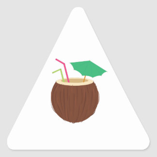Coconut Drink Triangle Stickers