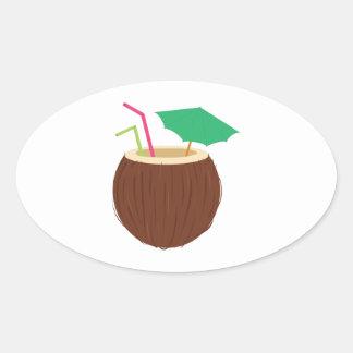Coconut Drink Sticker