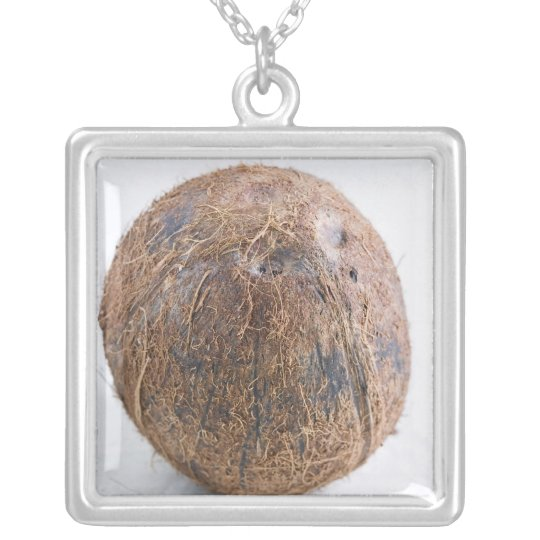 Coconut For use in USA only.) Silver Plated Necklace