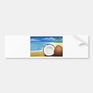Coconut Getaway Car Bumper Sticker