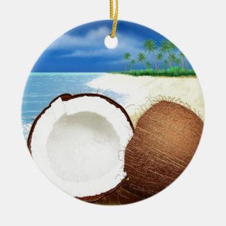 Coconut Getaway Christmas Ornament