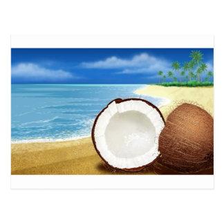 Coconut Getaway Postcard