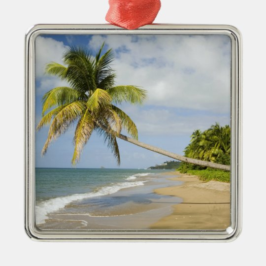 Coconut Grove Beach at Cades Bay, with St. 2 Metal Ornament