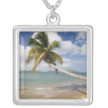 Coconut Grove Beach at Cades Bay, with St. Silver Plated Necklace