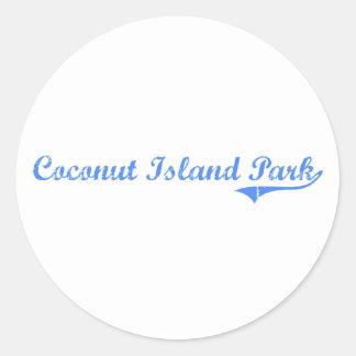 Coconut Island Park Hawaii Classic Design Classic Round Sticker