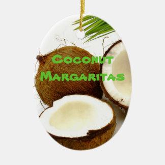 Coconut Margarita Party Favor Ceramic Ornament