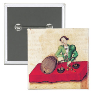 Coconut Merchant from the Tractatus de Pinback Buttons