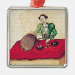 Coconut Merchant from the 'Tractatus de Square Metal Christmas Ornament