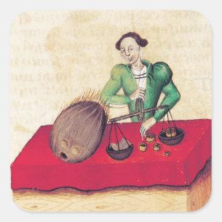 Coconut Merchant from the 'Tractatus de Square Sticker