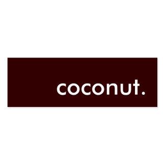 coconut. mini business card