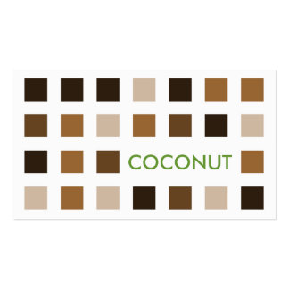 COCONUT (mod squares) Business Card
