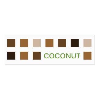 COCONUT (mod squares) Mini Business Card
