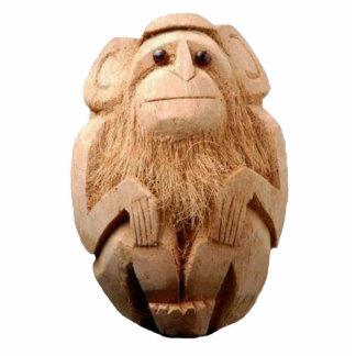 Coconut Monkey Keychain