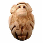 Coconut Monkey Ornament