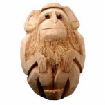 Coconut Monkey Sculpture