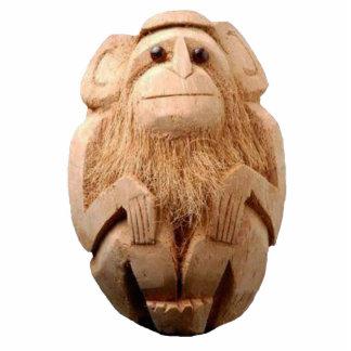 Coconut Monkey Sculpture