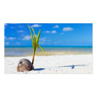 Coconut on the beach business card