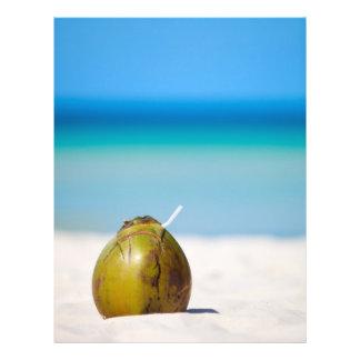 Coconut on the beach flyer