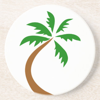 coconut-palm-312154 coconut palm tree curved twist drink coasters