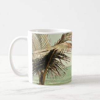 Coconut Palm and Pastel Beach Photography Coffee Mug