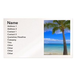 Coconut Palm Business Card Templates