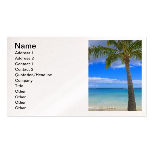 palm card template word - coconut palm business card templates zazzle