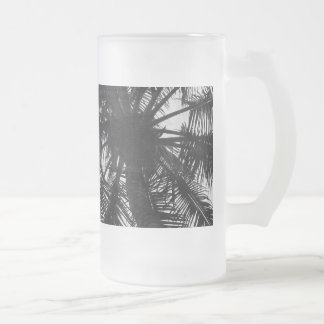 Coconut Palm 16 Oz Frosted Glass Beer Mug