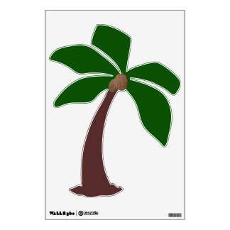 Coconut Palm Tree 1 Wall Decal