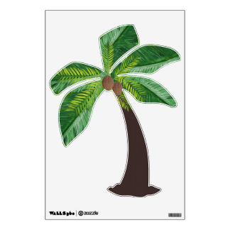 Coconut Palm Tree 2 Wall Decal