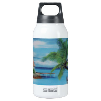 Coconut palm tree beach.jpg 10 oz insulated SIGG thermos water bottle