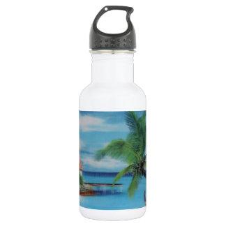 Coconut palm tree beach.jpg 18oz water bottle
