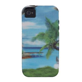 Coconut palm tree beach.jpg iPhone 4 cover