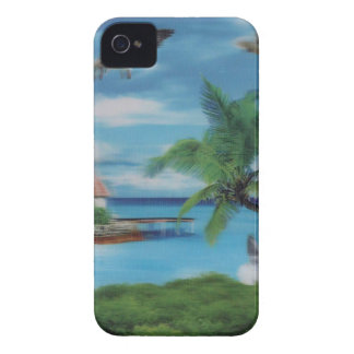 Coconut palm tree beach.jpg iPhone 4 case