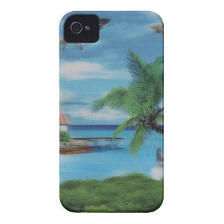 Coconut palm tree beach.jpg iPhone 4 case
