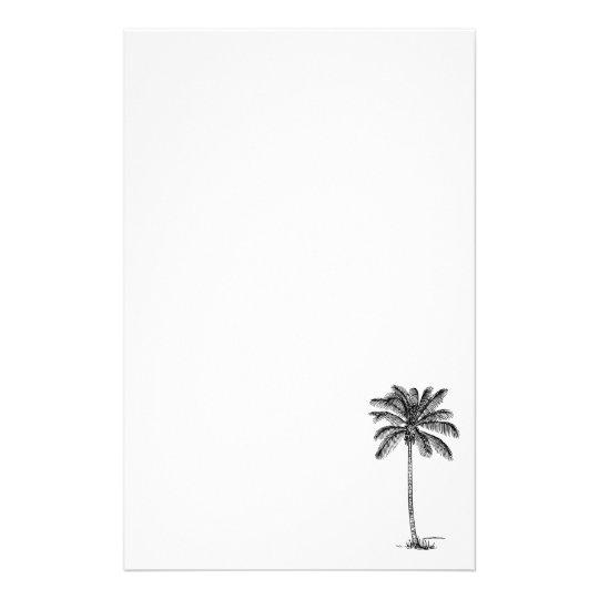 coconut palm tree line drawing stationery zazzle com