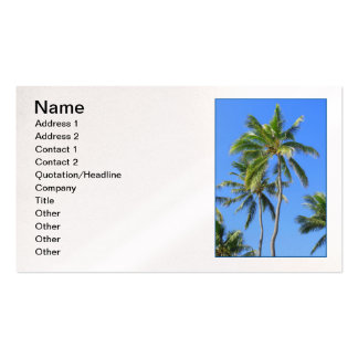 Coconut Palm Trees Business Card