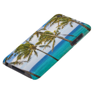 Coconut palm trees (Cocos nucifera) swaying in Barely There iPod Case