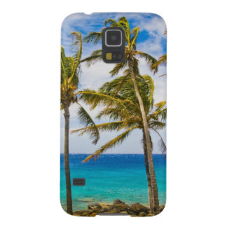 Coconut palm trees (Cocos nucifera) swaying in Case For Galaxy S5