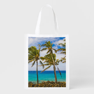 Coconut palm trees (Cocos nucifera) swaying in Grocery Bag