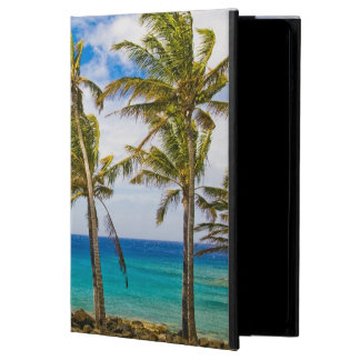 Coconut palm trees (Cocos nucifera) swaying in iPad Air Cases