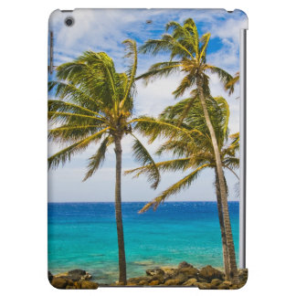 Coconut palm trees (Cocos nucifera) swaying in iPad Air Cover