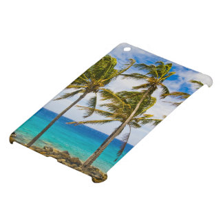 Coconut palm trees (Cocos nucifera) swaying in iPad Mini Case